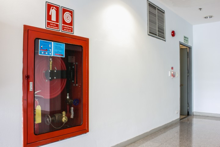 Fire extinguishers emergency equipment